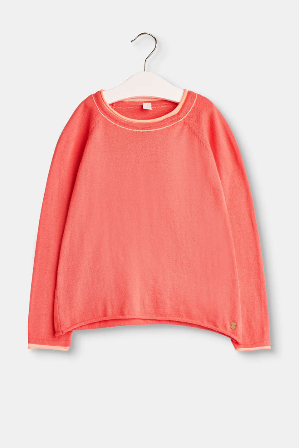 Esprit - Lightweight melange jumper in 100% cotton