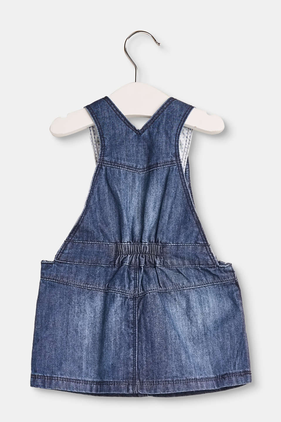 Cute cotton denim dungaree dress