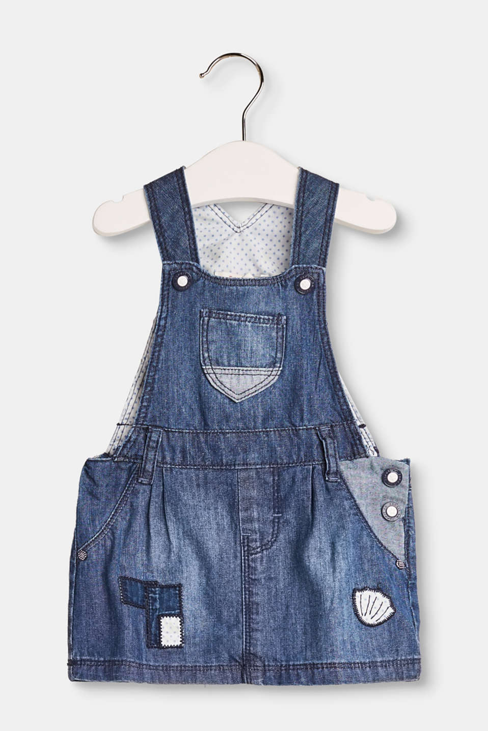 Esprit - Cute cotton denim dungaree dress