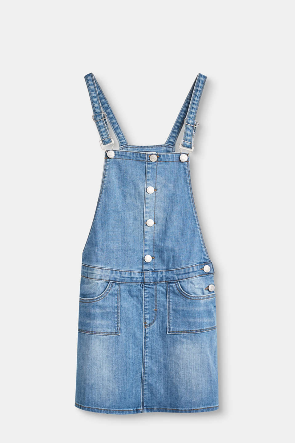 Esprit - Denim pinafore, adjustable waist