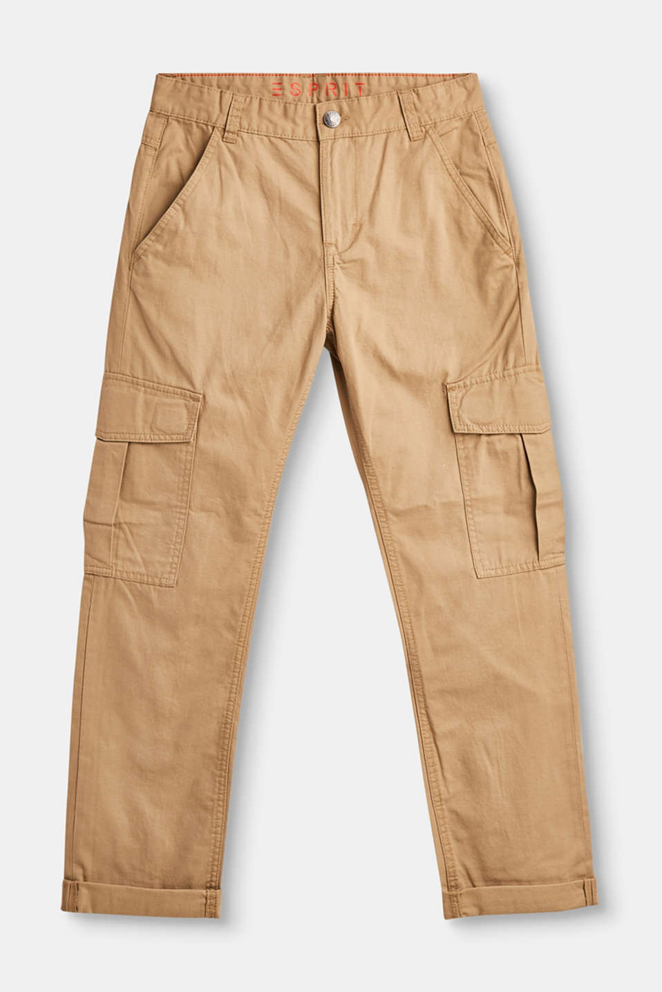 Esprit - Adjustable trousers in 100% cotton