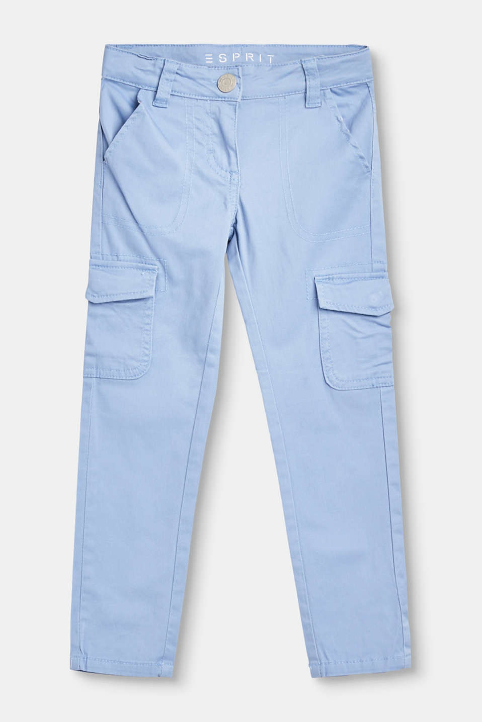 Esprit - Cargo trousers in soft stretchy cotton