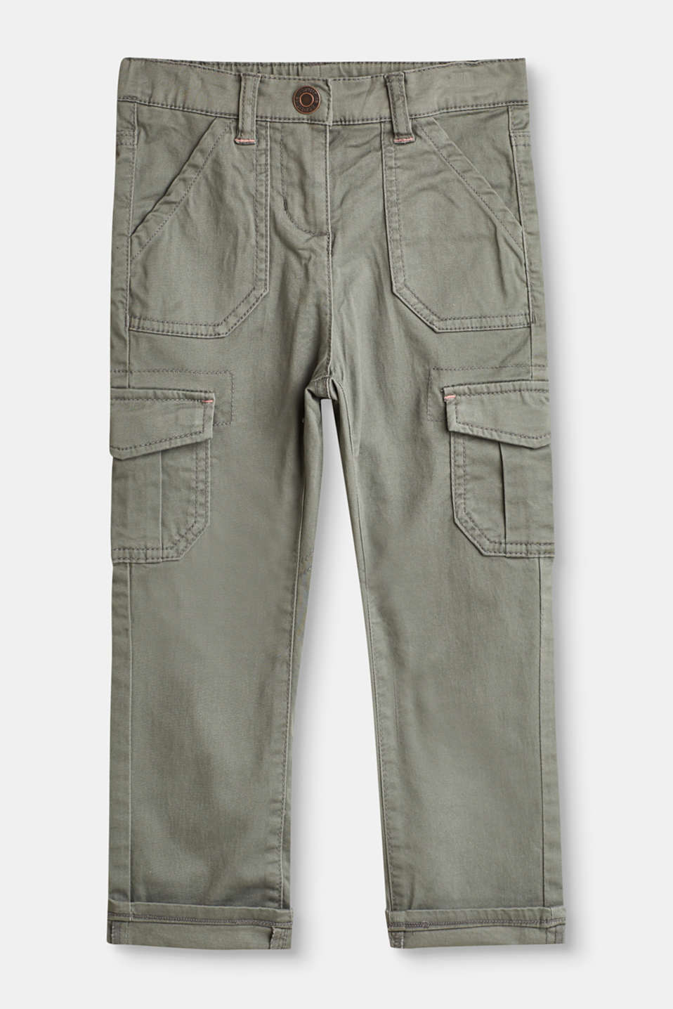 Esprit - Cargo trousers in 100% cotton