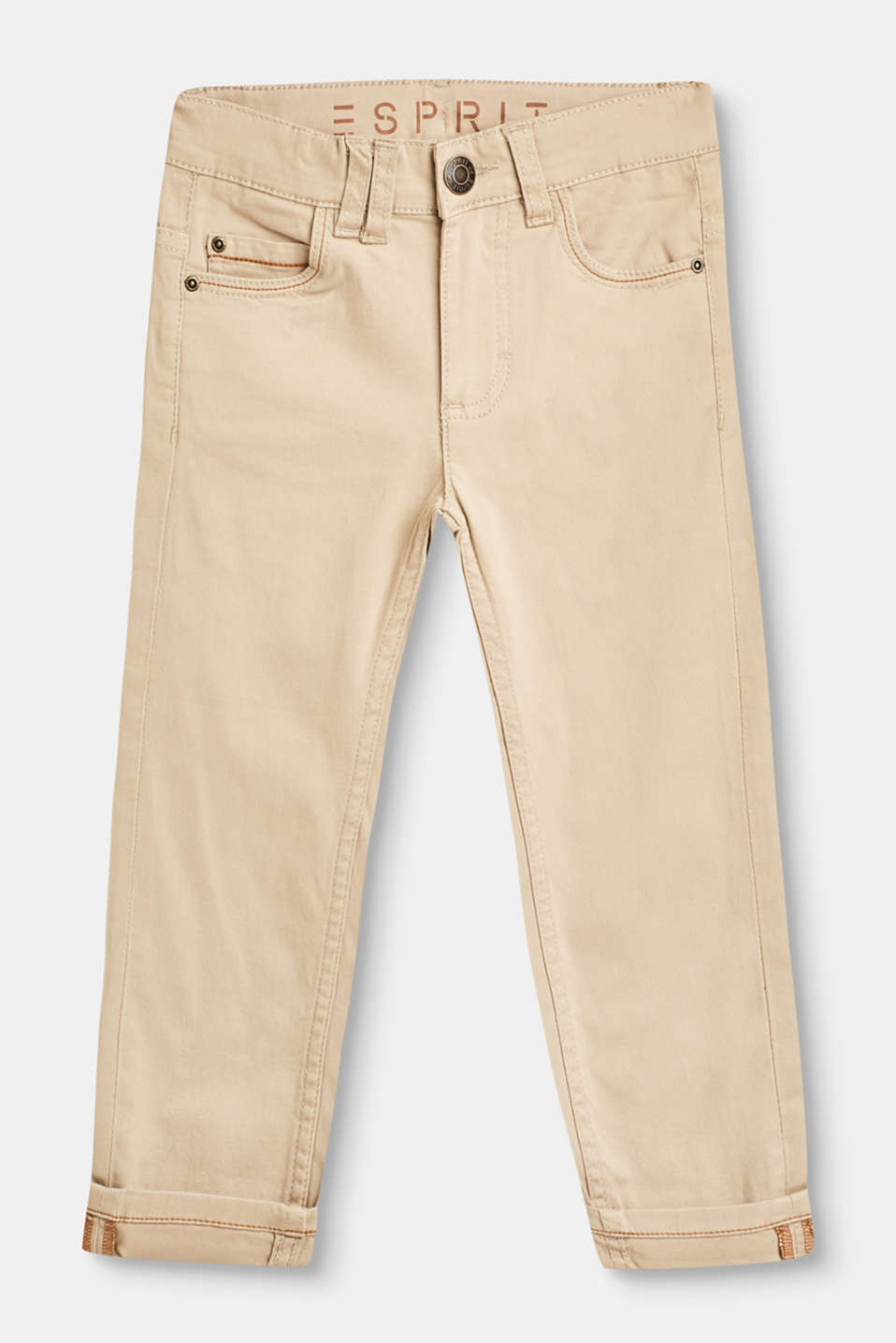 Esprit - Cotton trousers with stretch for comfort