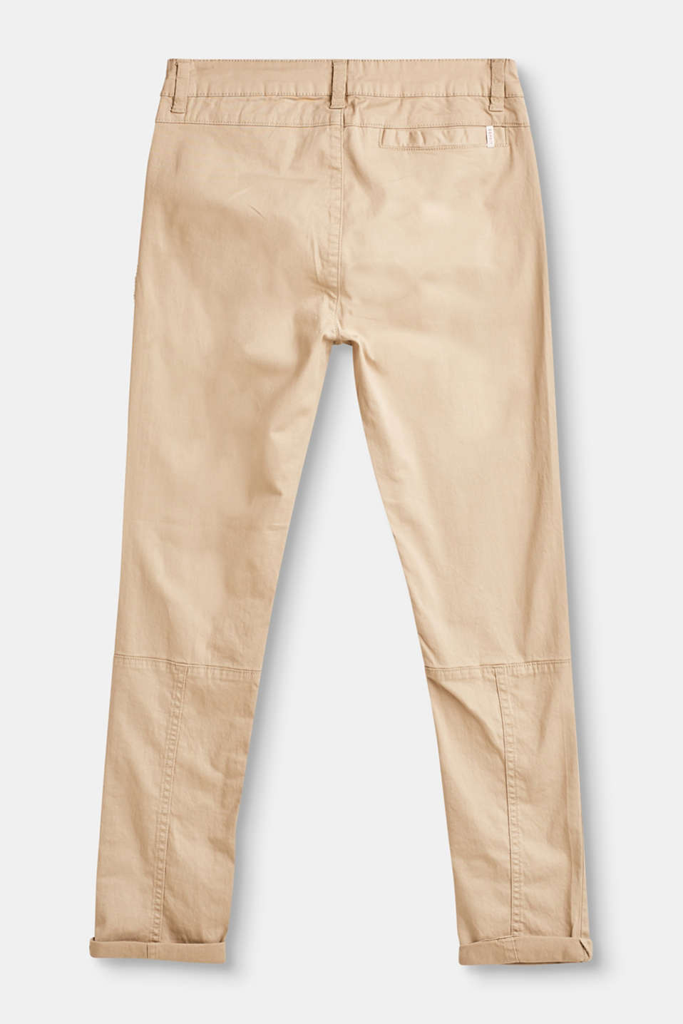 Casual chinos with adjustable waistband, 100% cotton