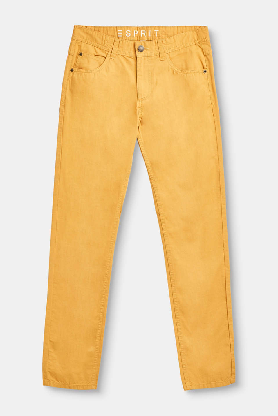 Esprit - Casual cotton chinos with mock piped pockets
