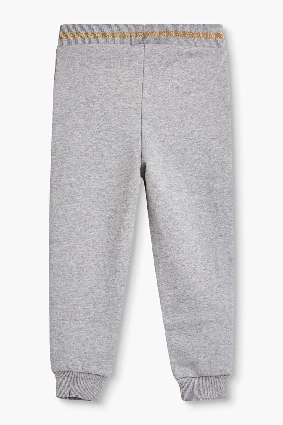 Glitzernde Sweat-Pants mit Lurex-Bund