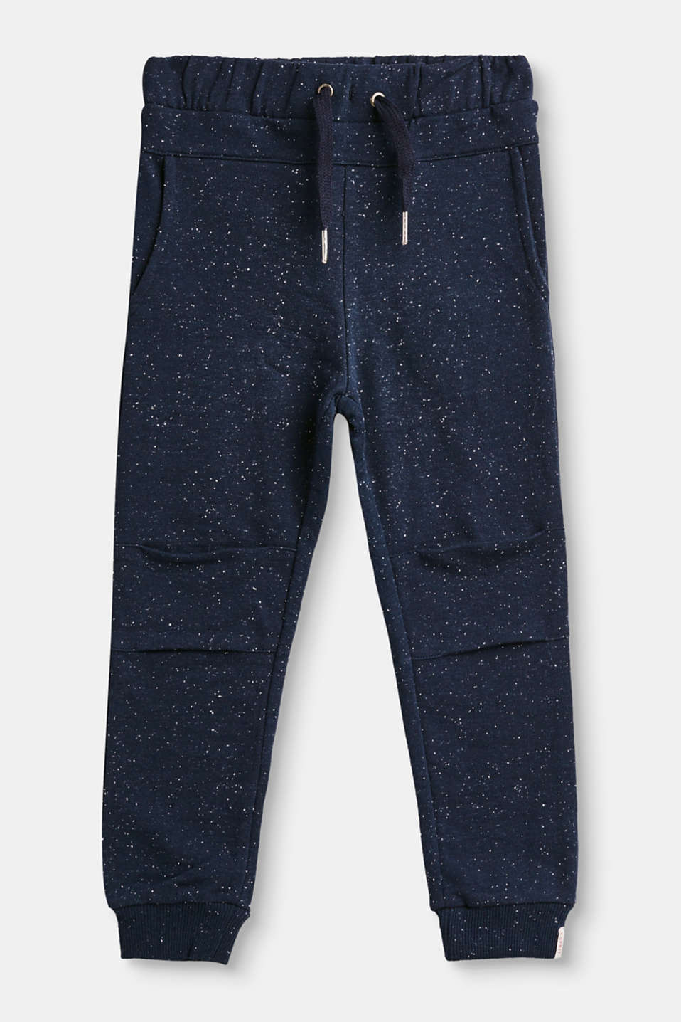 Esprit - Tracksuit bottoms in melange jersey