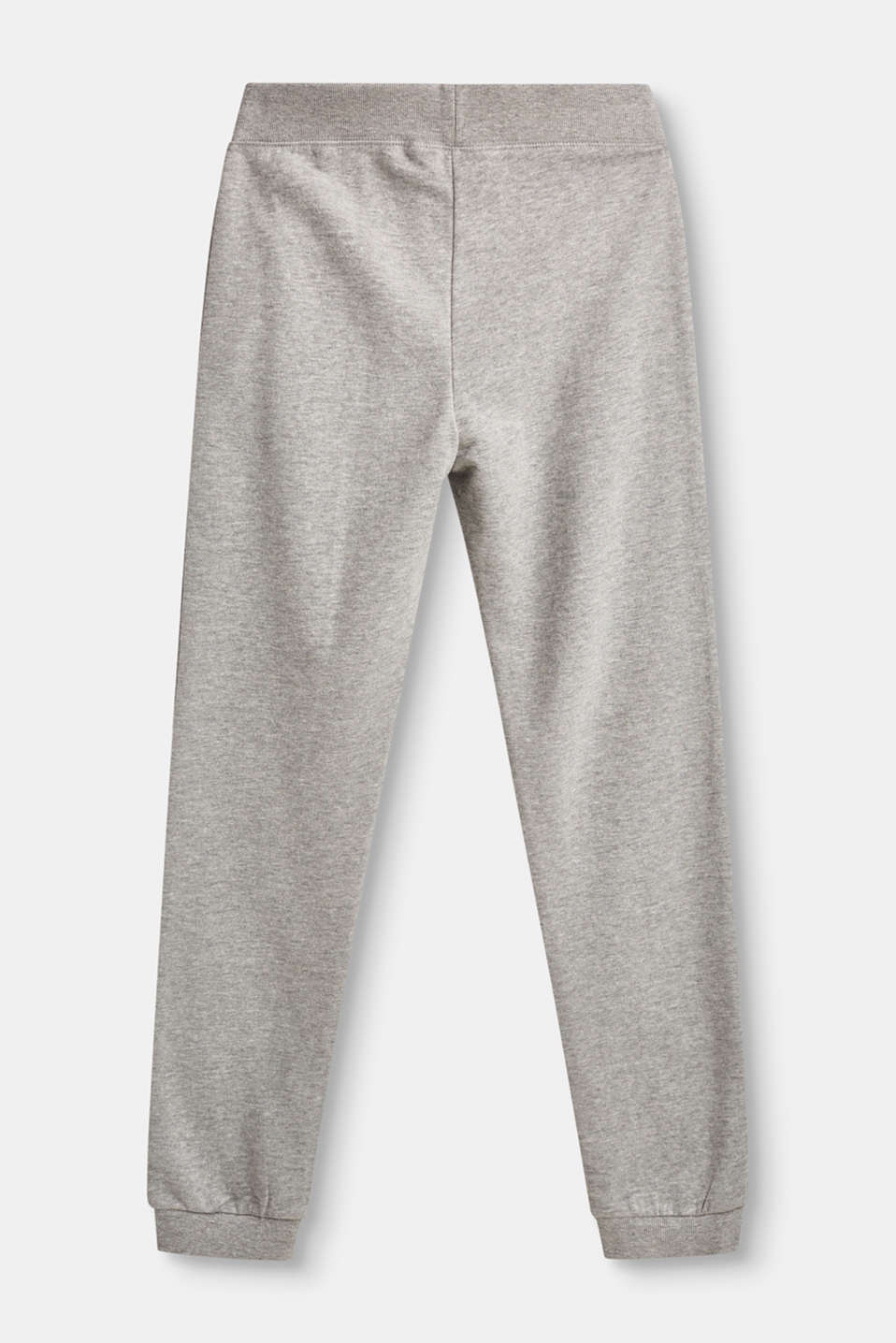 Cotton trousers with ribbed cuffs