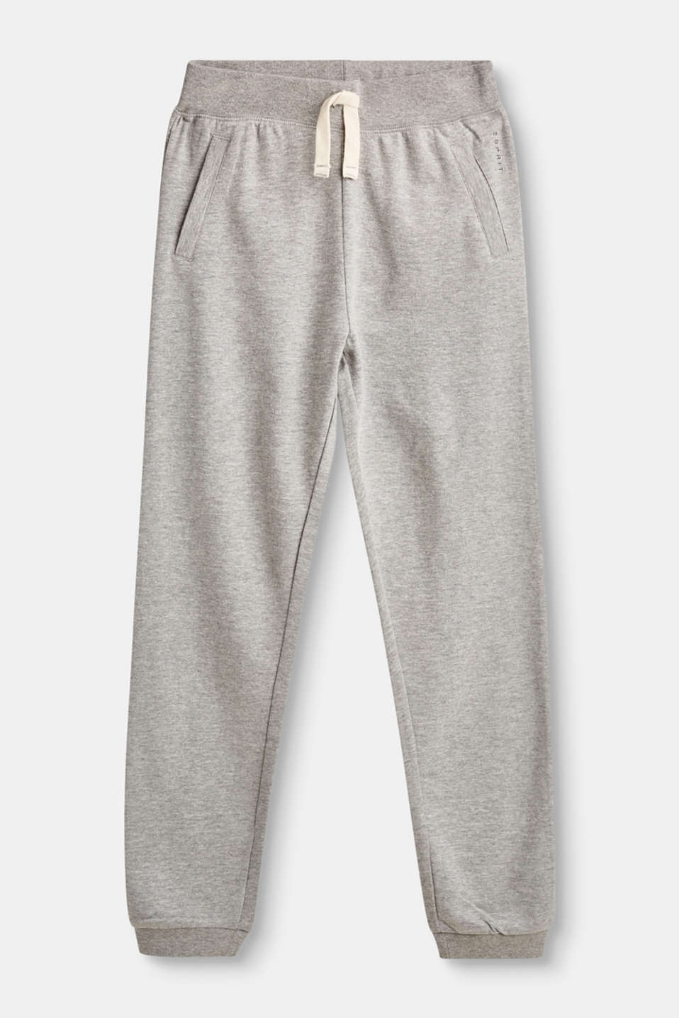 Esprit - Cotton trousers with ribbed cuffs