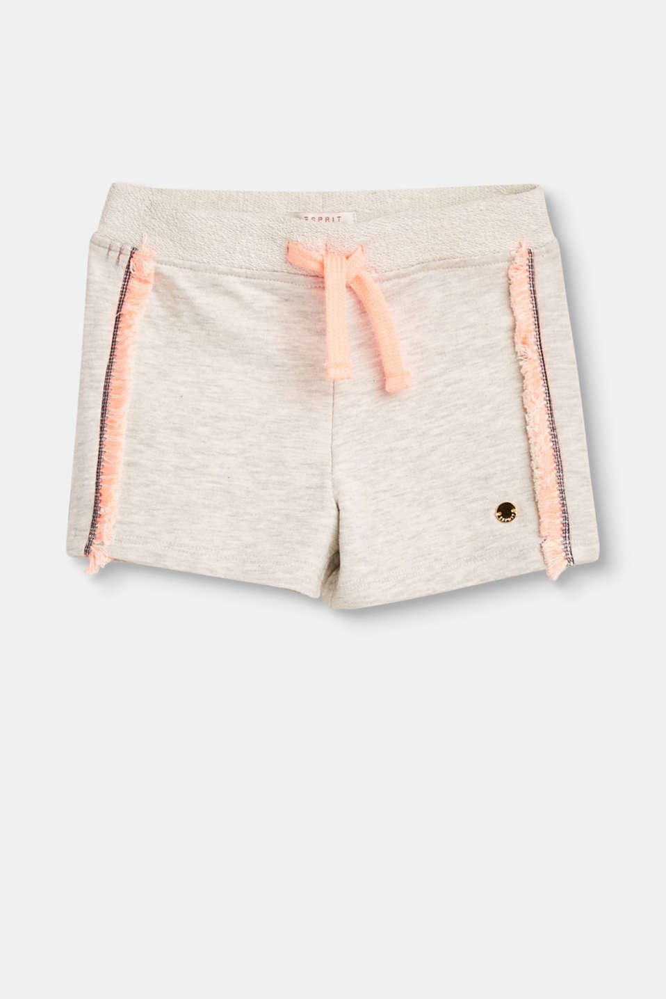 Esprit - Sweatshirt shorts, frayed at the sides