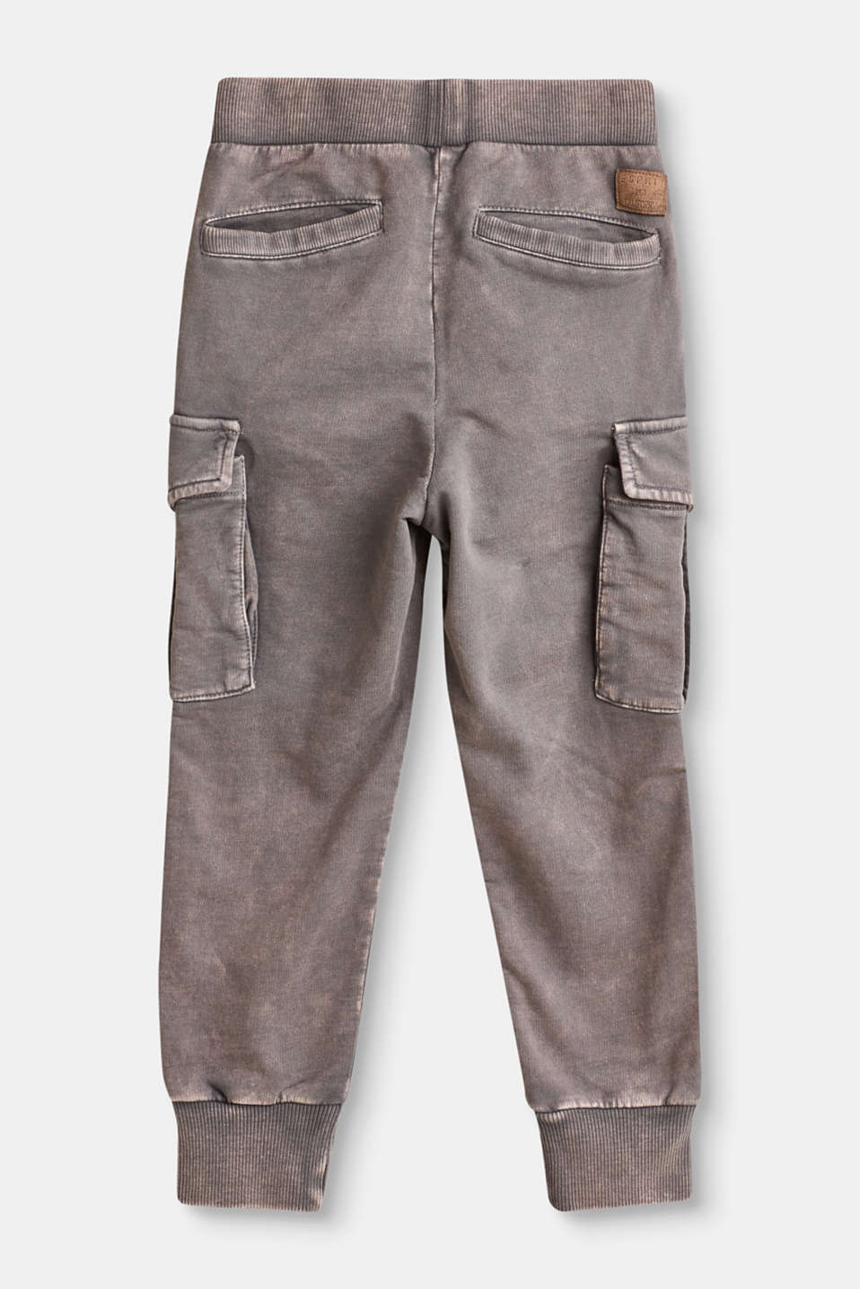 Cargo style tracksuit trousers in 100% cotton