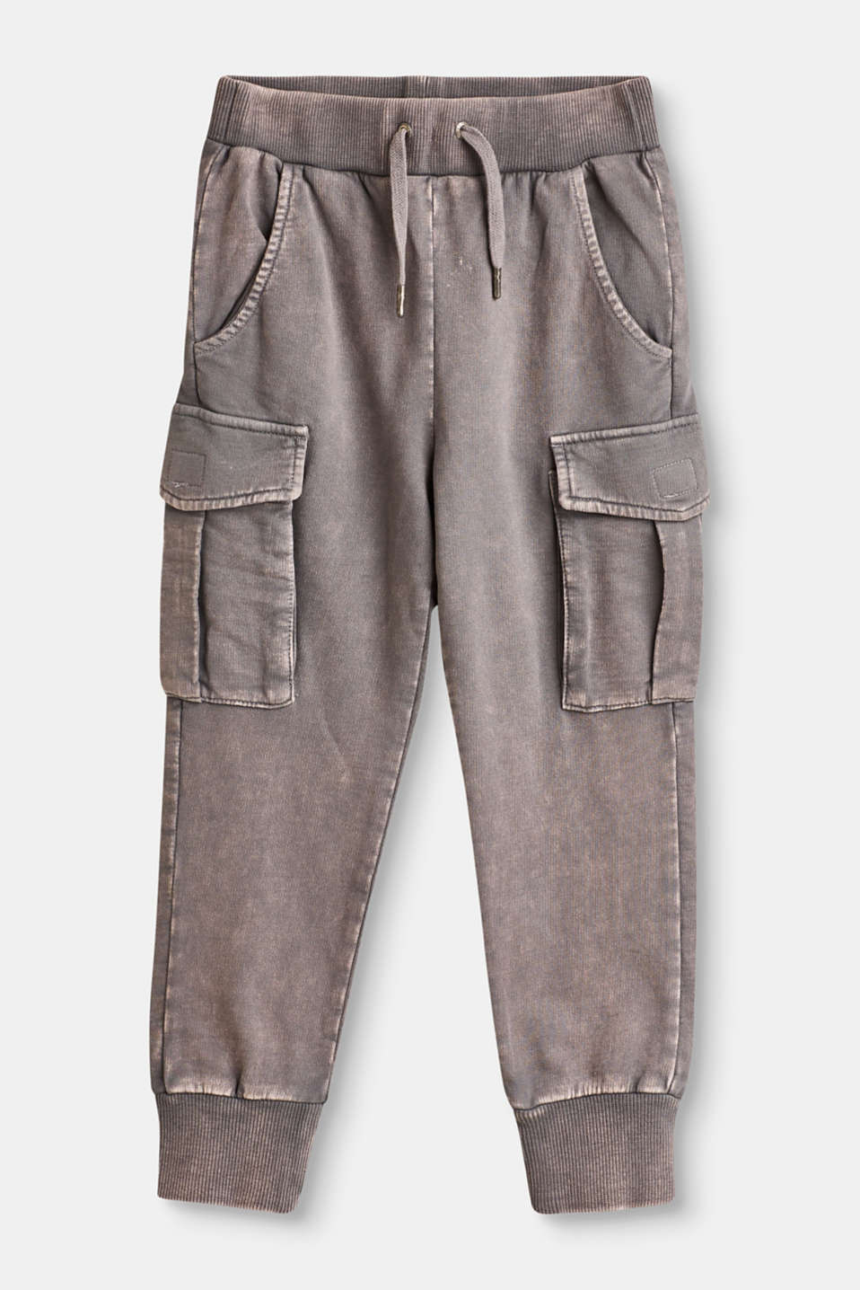 Esprit - Cargo style tracksuit trousers in 100% cotton
