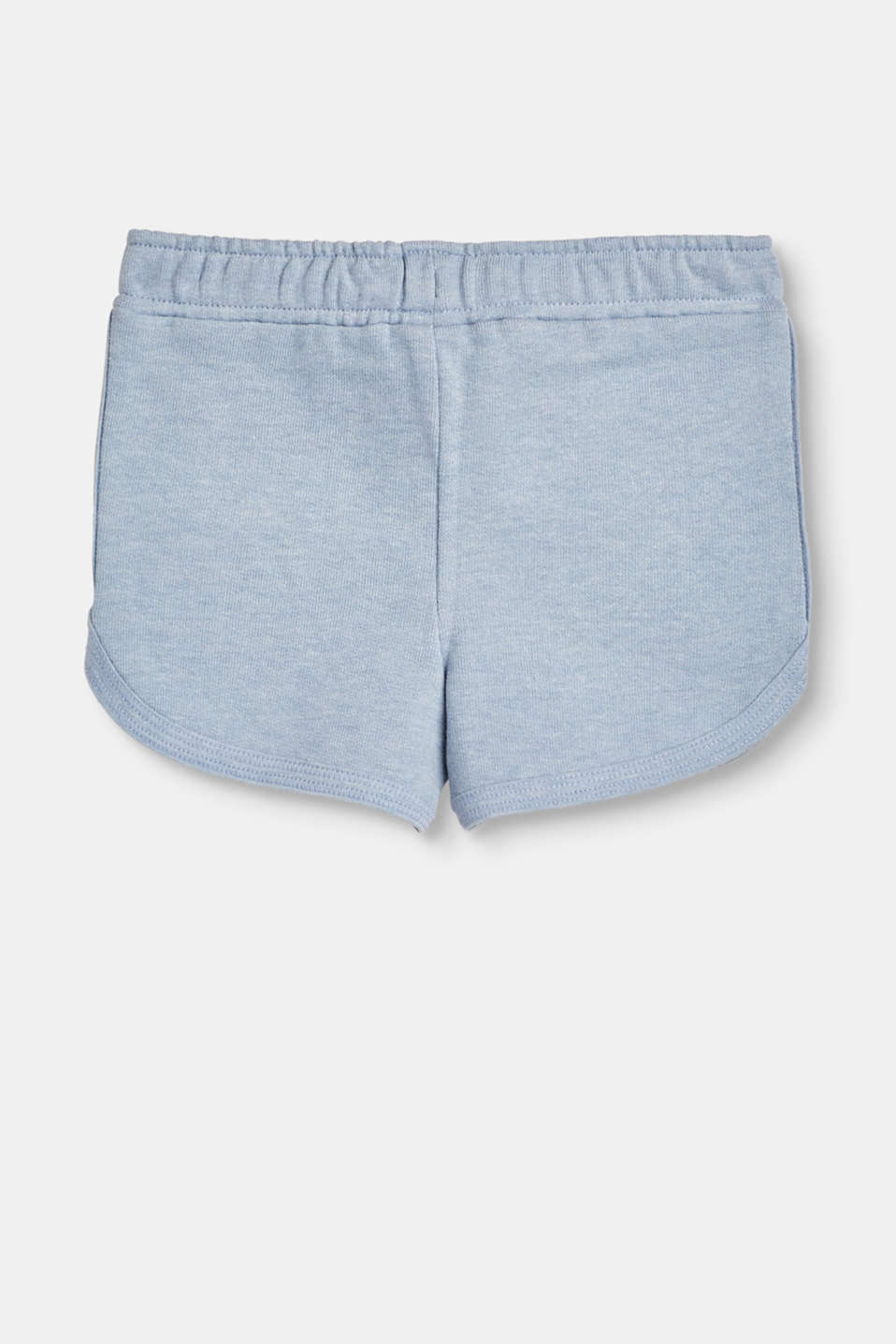 Blended cotton jogger shorts