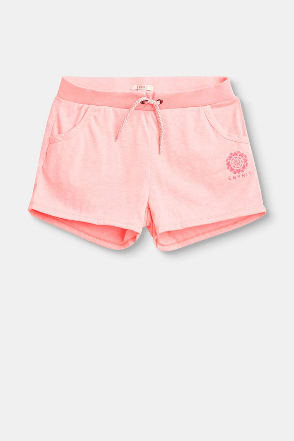 Sporty summer look: These soft shorts come with slit pockets, a colourful drawstring and a super comfy elasticated waistband.