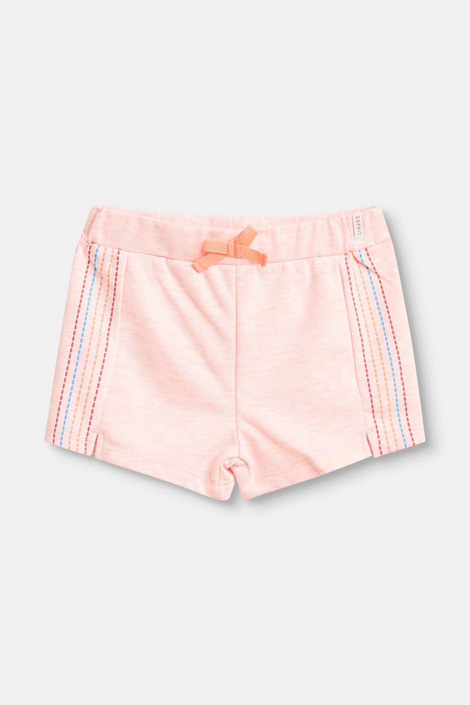 Esprit - Jersey shorts with colourful, embroidered prints