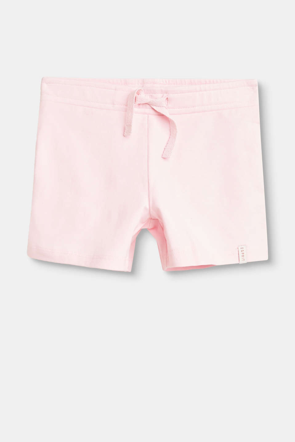 Esprit - Jersey jogger shorts in stretch cotton
