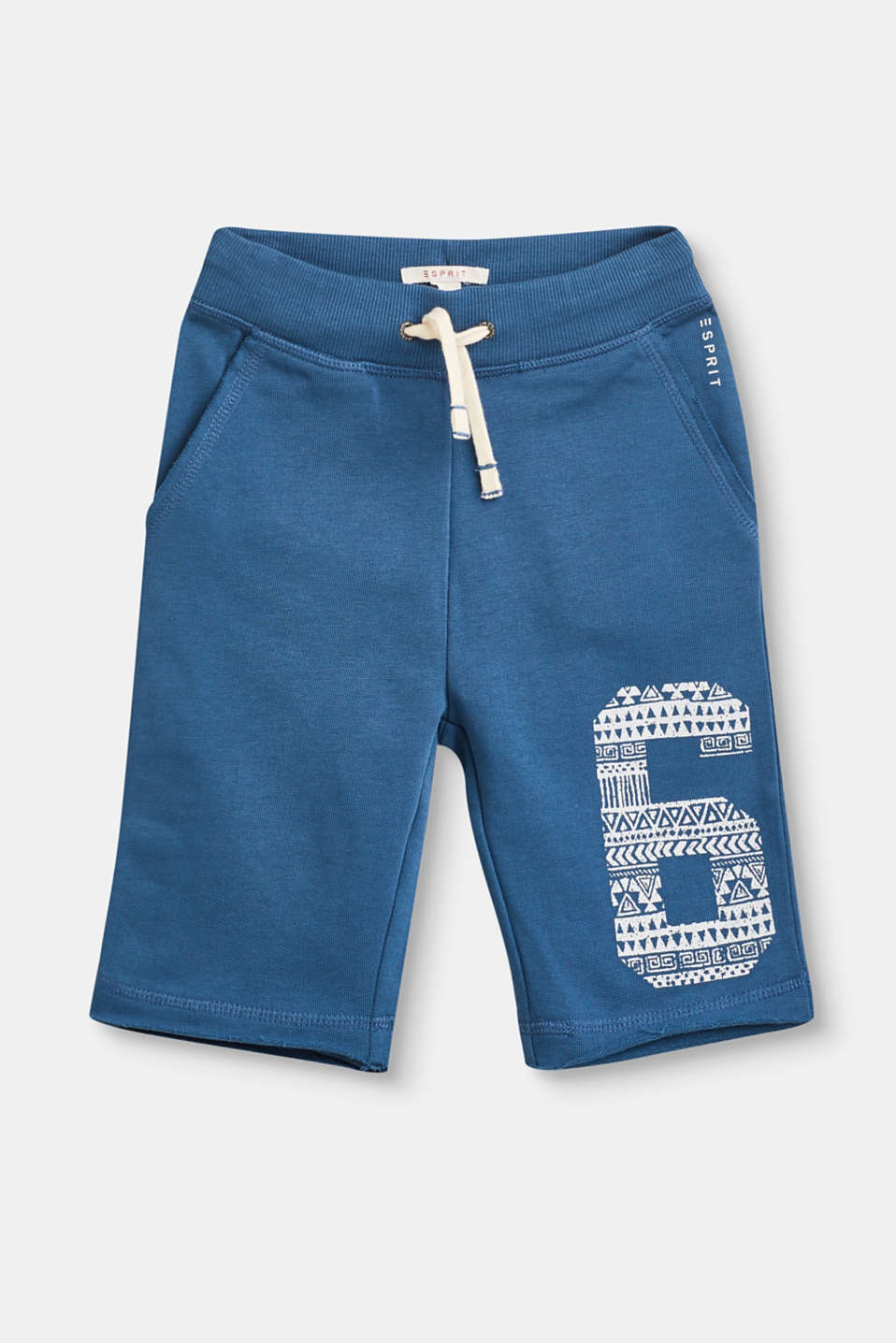 Esprit - Sweatshirt shorts with a number print, 100% cotton