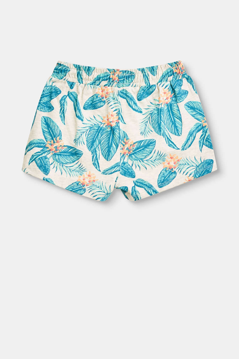 Stretch jersey shorts with a colourful print