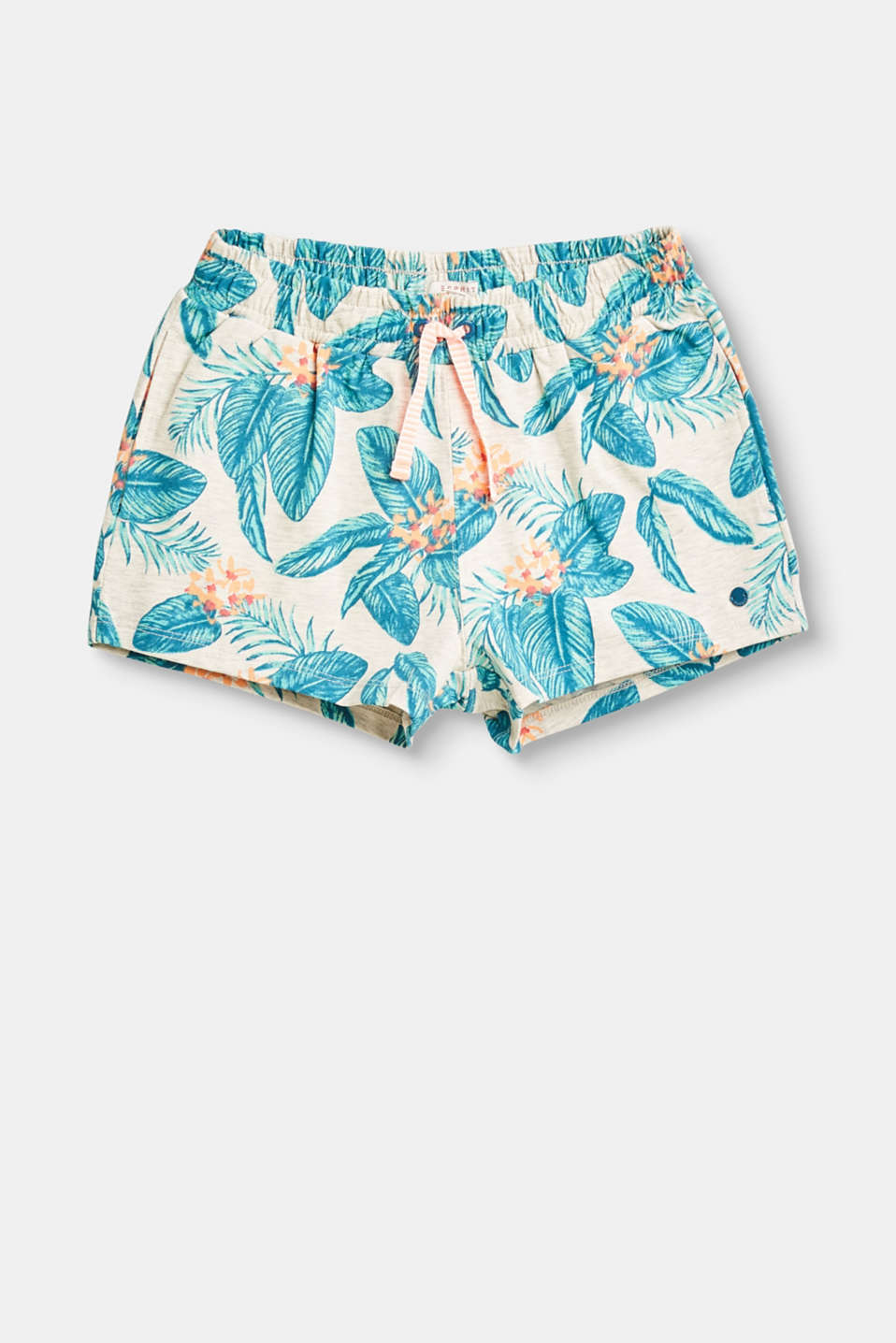 These soft, lightweight jersey shorts featuring a colourful print and decorative drawstring ties radiate great summer vibes.