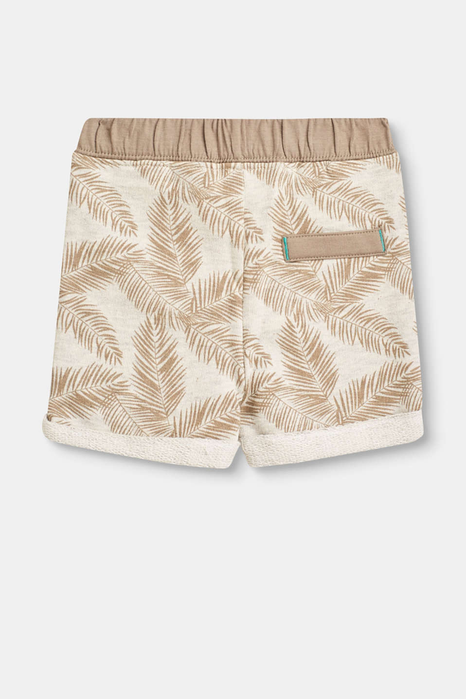 Soft shorts in blended cotton with a print