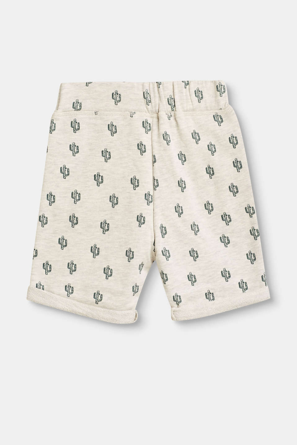 Sweat shorts with cactus print