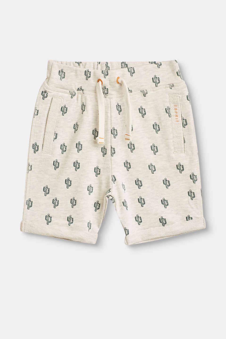 Esprit - Sweat shorts with cactus print