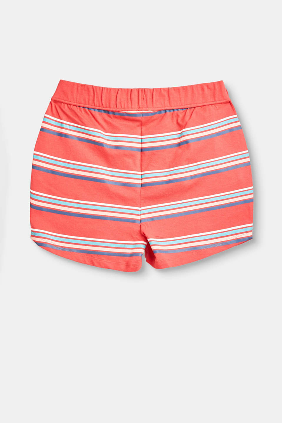 Striped jersey shorts in 100% cotton