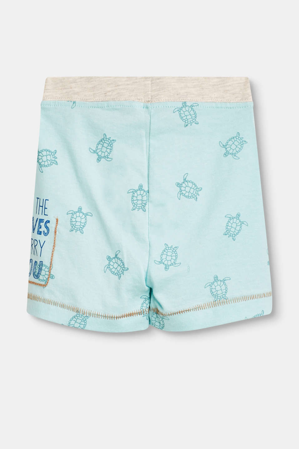 Bløde shorts m. print allover