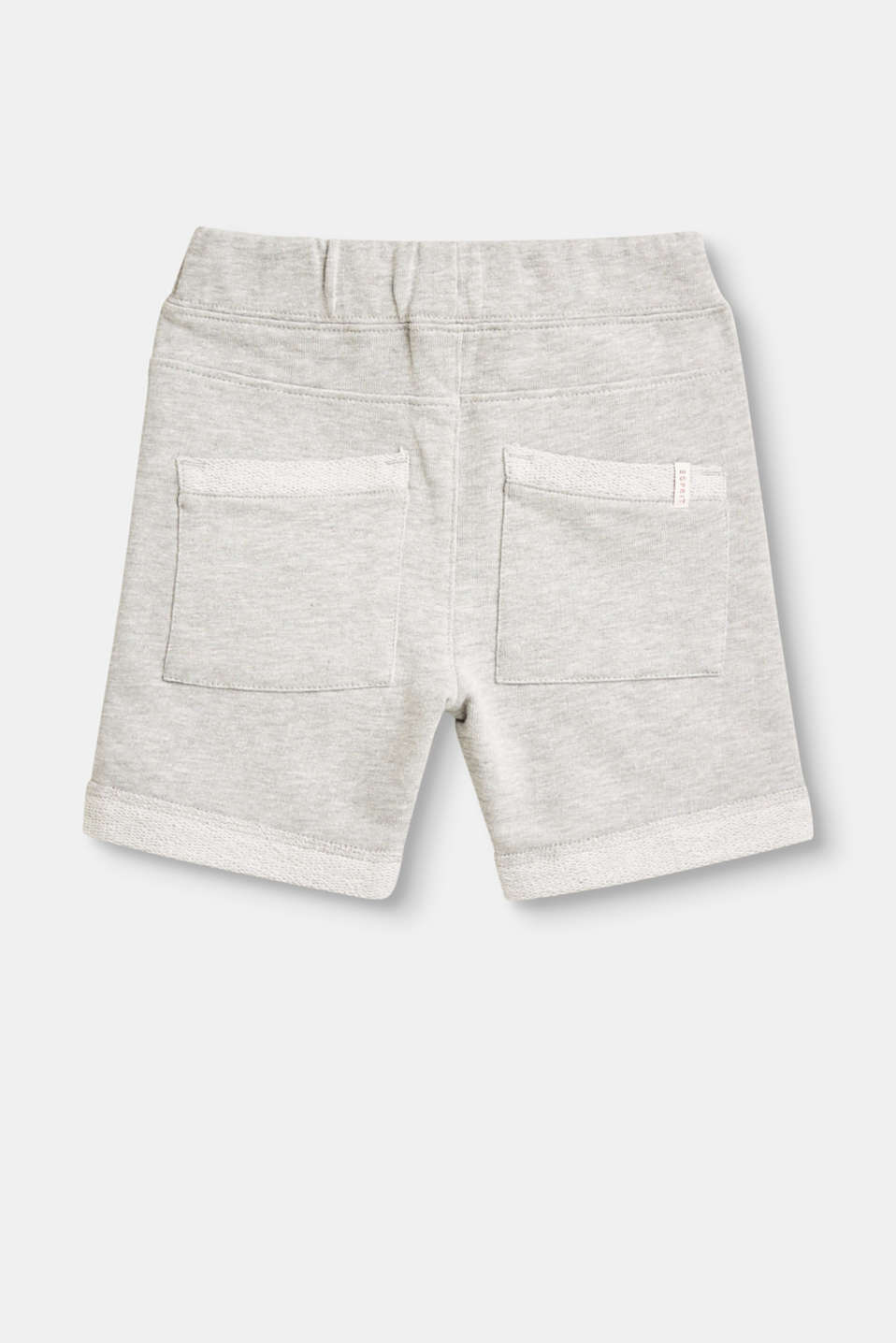 Jersey jogging shorts with inside-out details