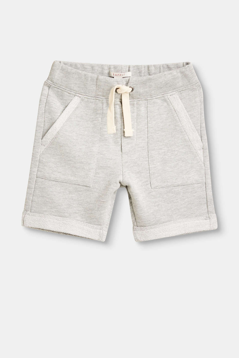 Esprit - Jersey jogging shorts with inside-out details