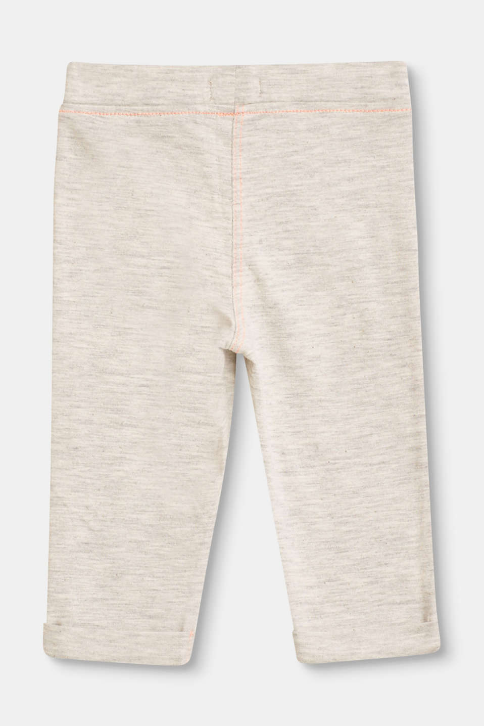 Melange leggings with contrasting stitching