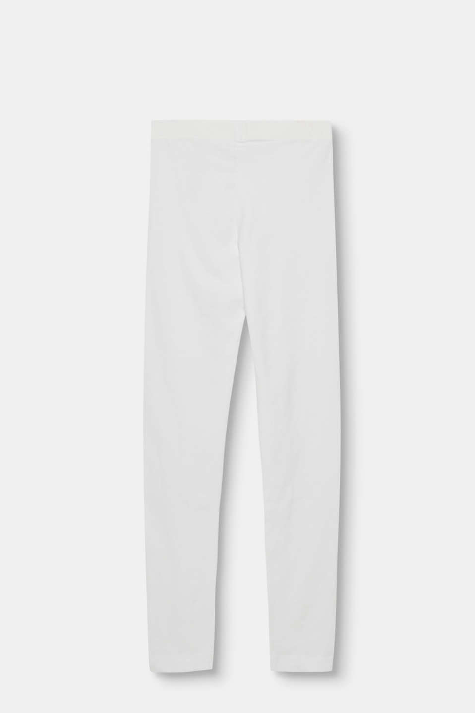 Basic leggings in stretch cotton