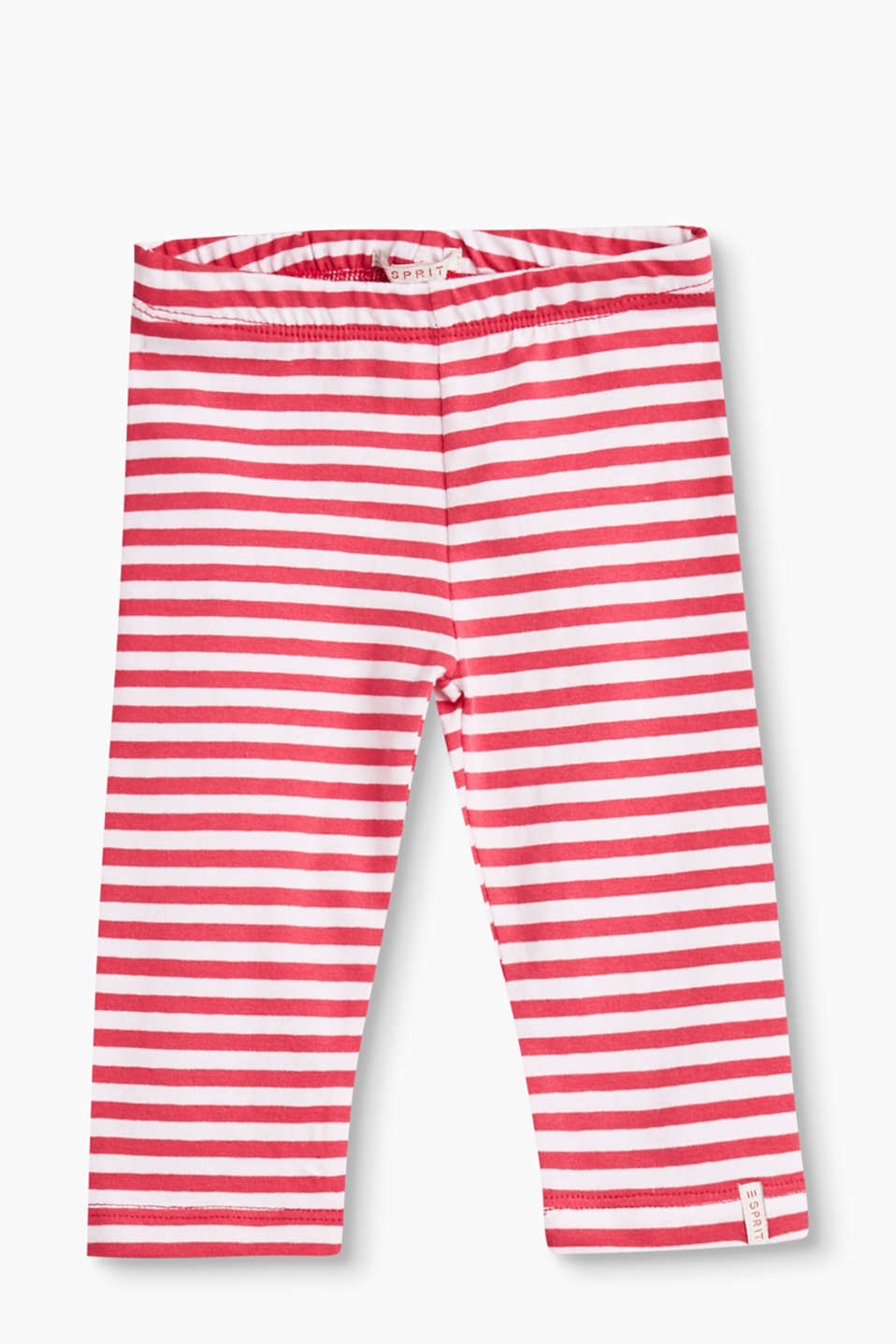 Esprit - Striped leggings in stretch cotton