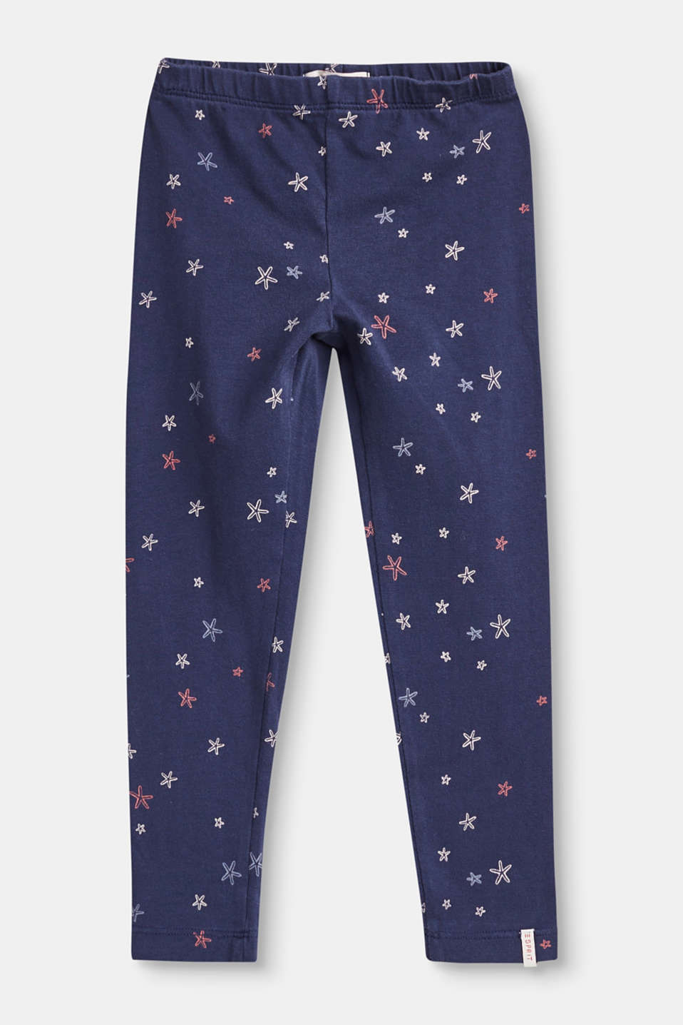 Esprit - Printed stretch cotton leggings