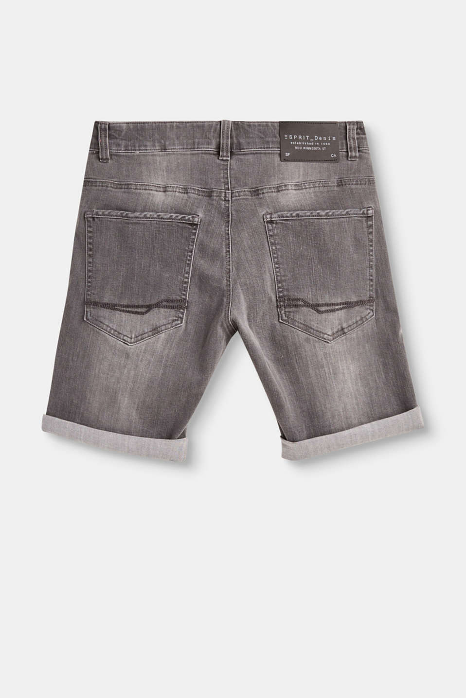 Jeans-Shorts aus Baumwoll-Stretch