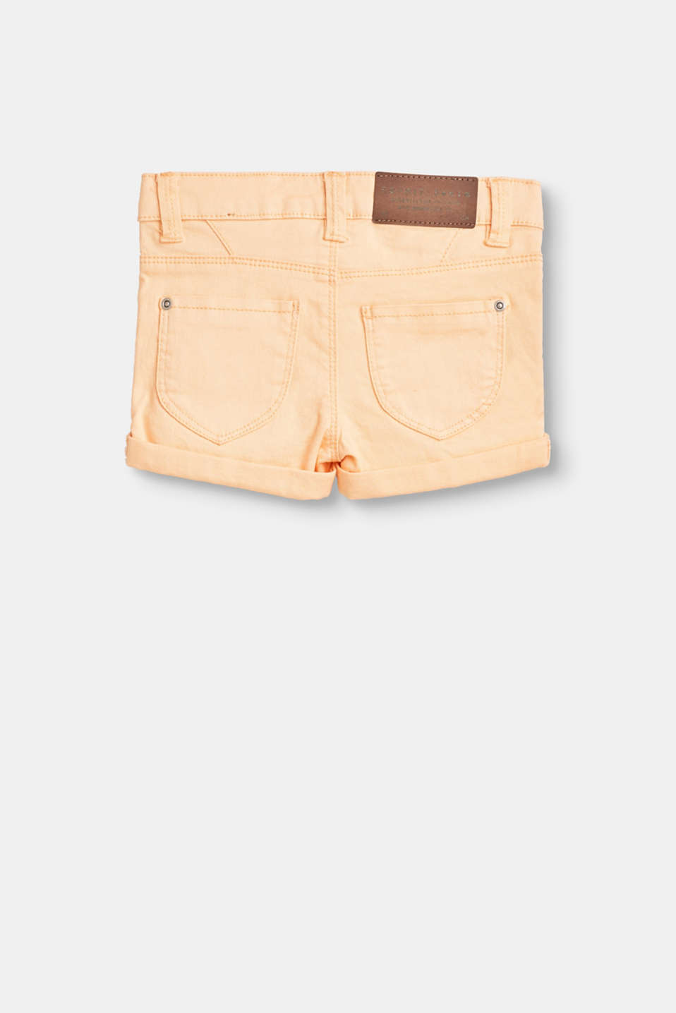 Basic denim shorts in stretch cotton