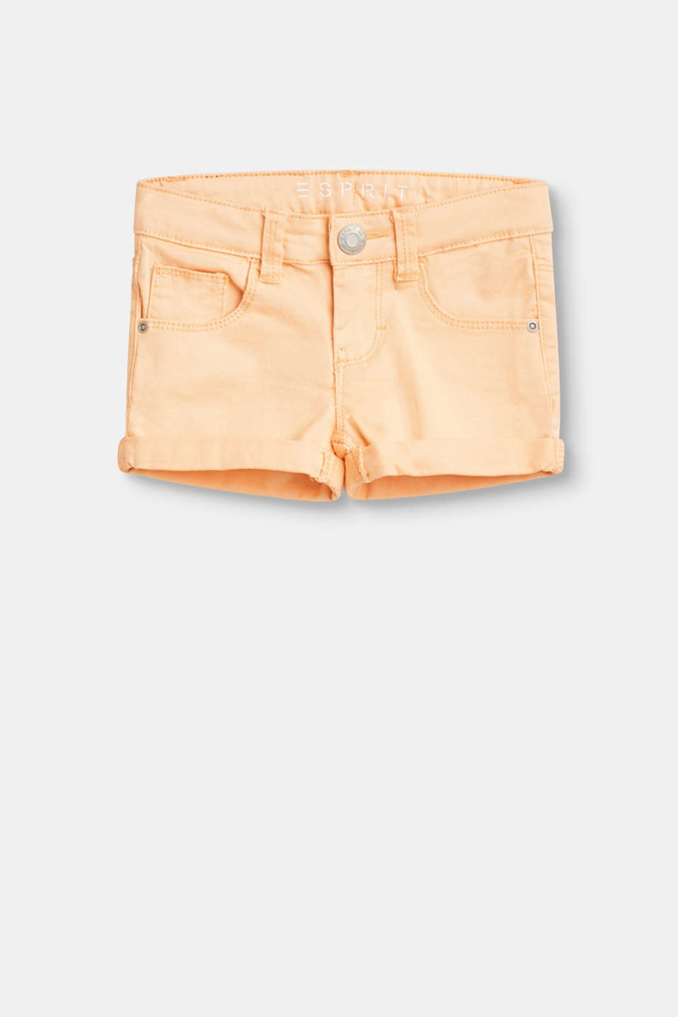 Esprit - Basic denim shorts in stretch cotton