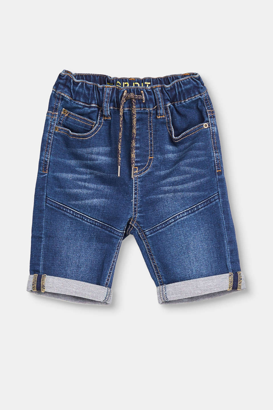 Esprit - Denim jogg shorts with elasticated waist