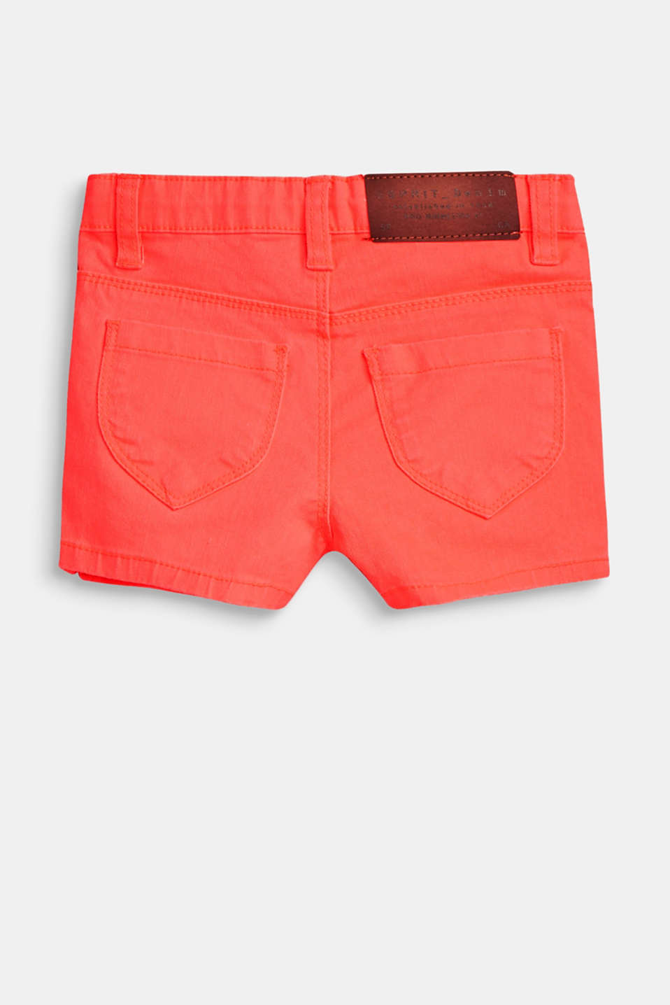Coloured stretch denim shorts with an adjustable waistband
