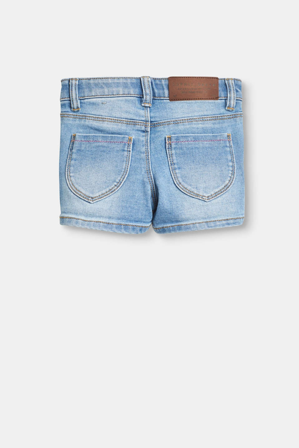 Cotton denim shorts with stretch for comfort