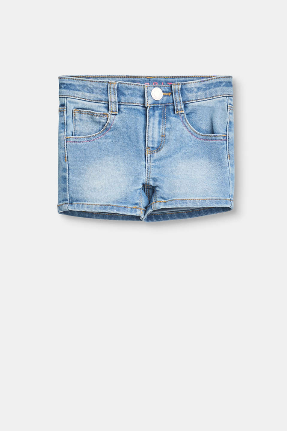 Esprit - Cotton denim shorts with stretch for comfort