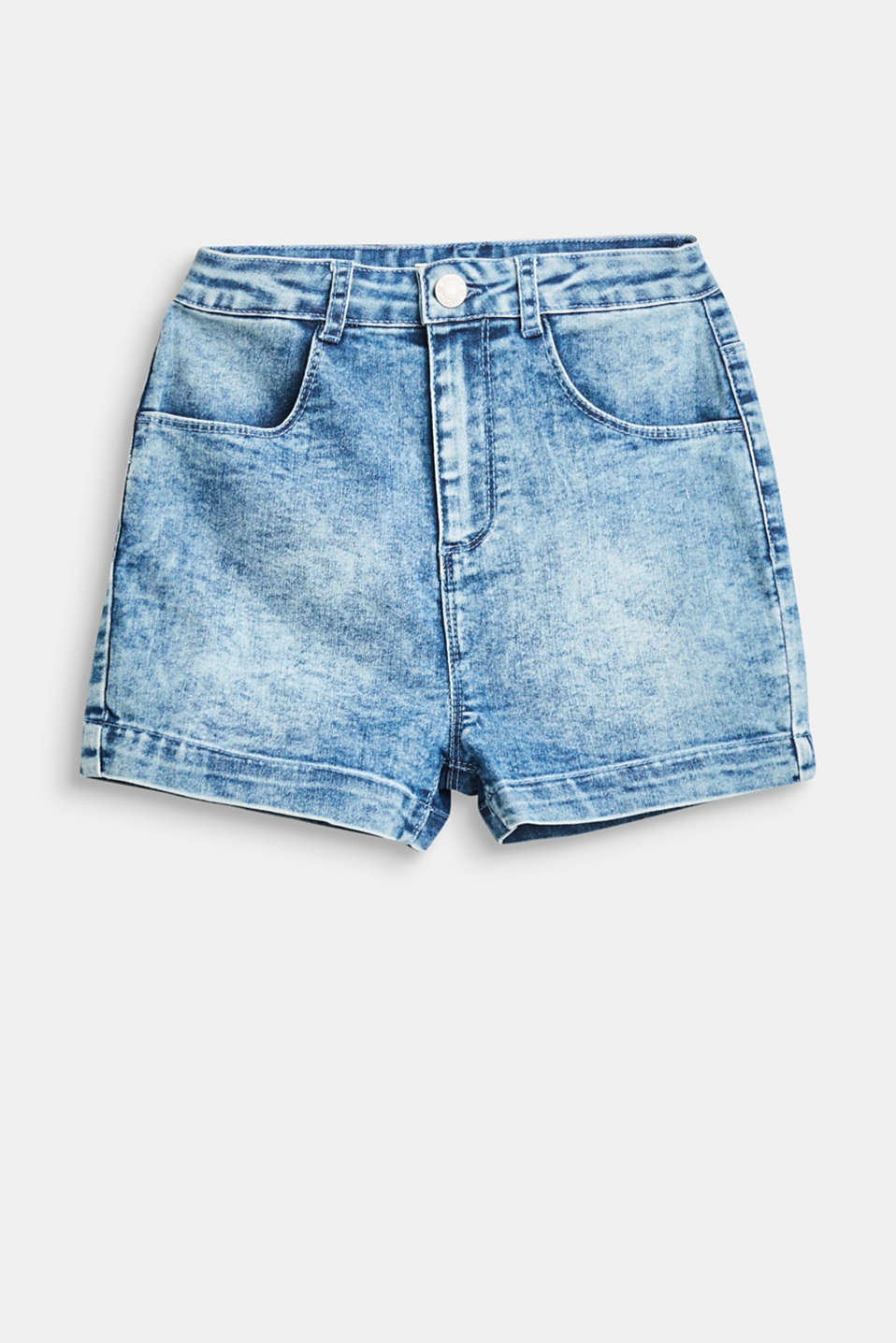 Esprit - High-waist stretch denim shorts