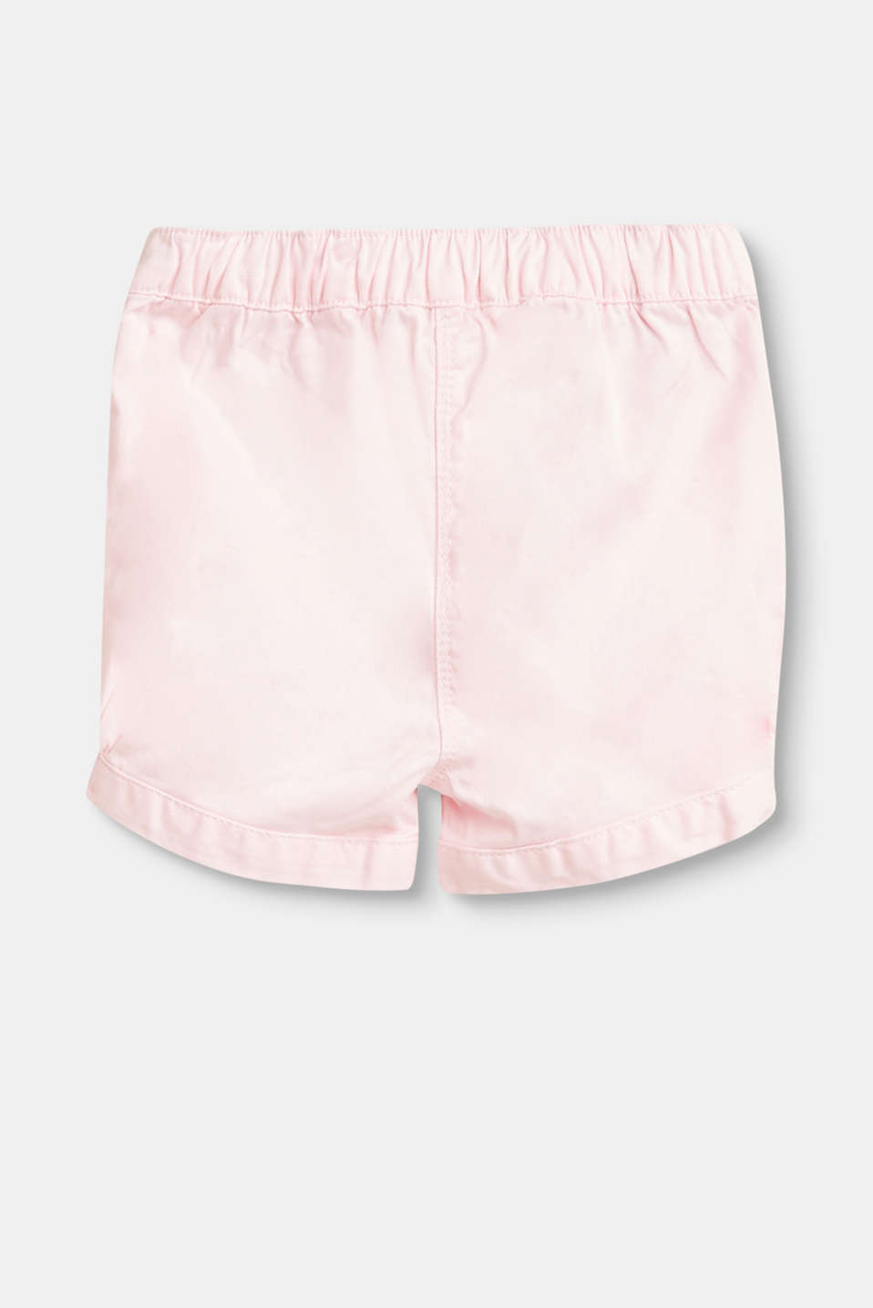 Stretch cotton shorts with embroidery