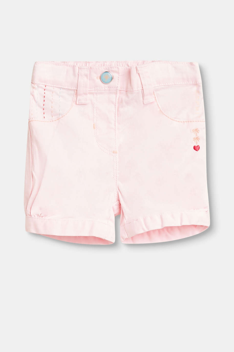 Esprit - Stretchige Baumwoll-Shorts mit Stickerei