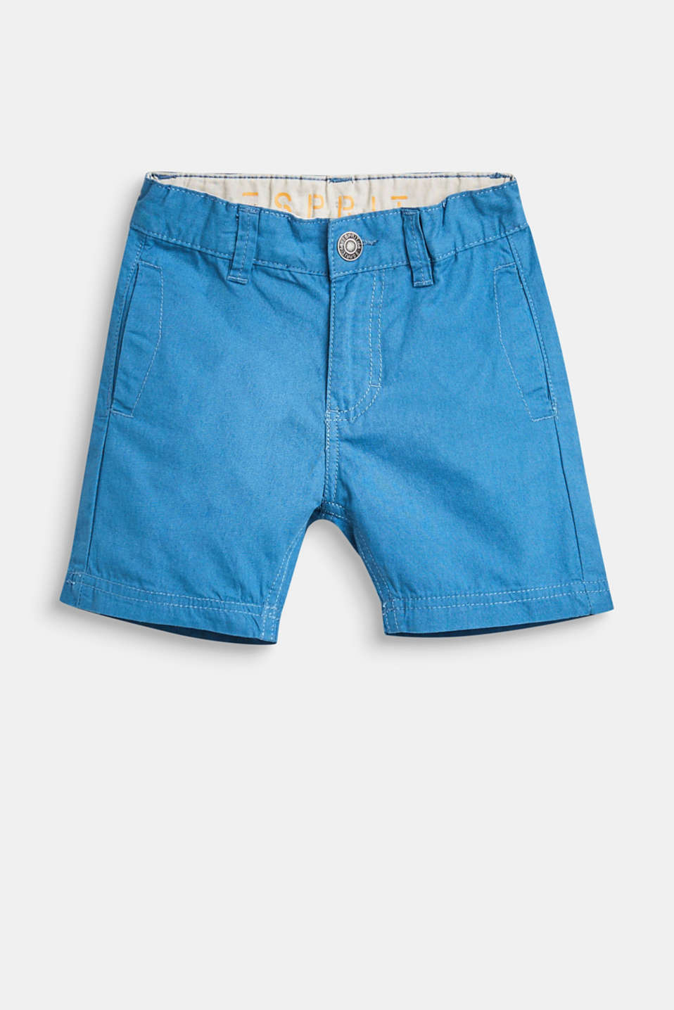 Esprit - Chinos shorts with an adjustable waistband, 100% cotton