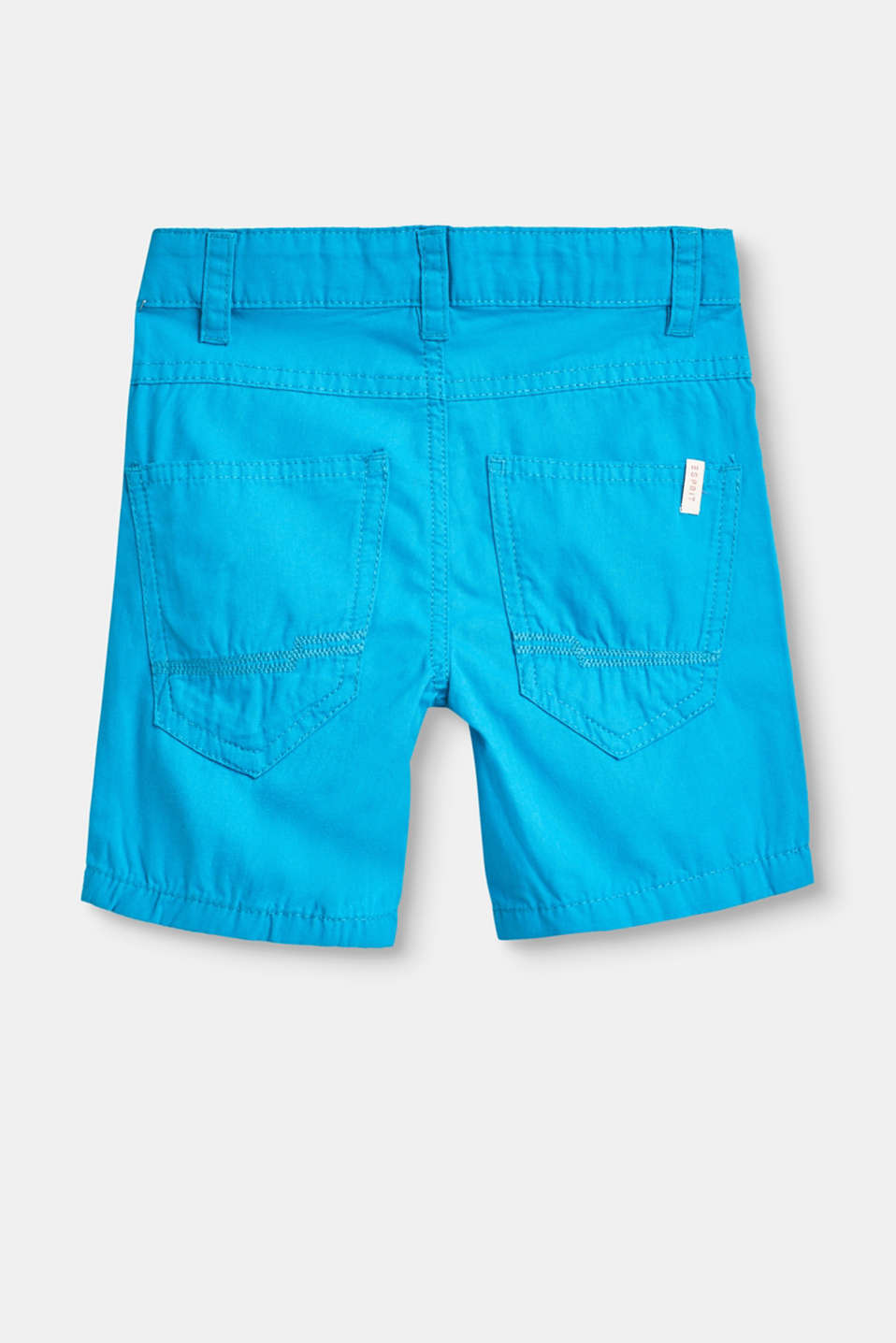 Cotton shorts with an adjustable waistband