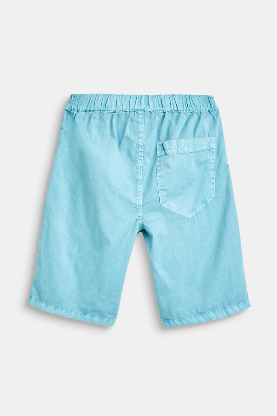 Woven cotton shorts with an elasticated waistband