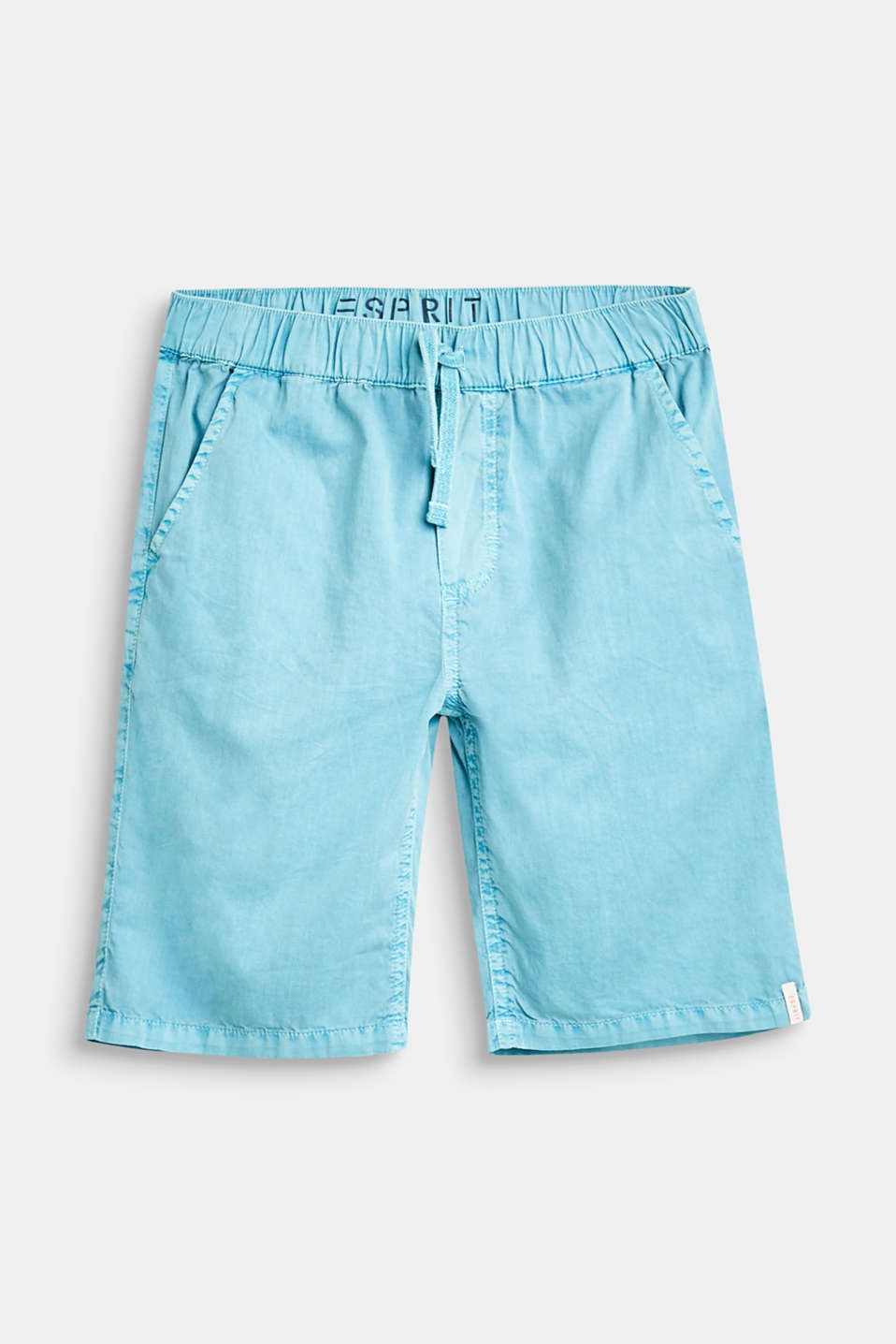 Esprit - Woven cotton shorts with an elasticated waistband