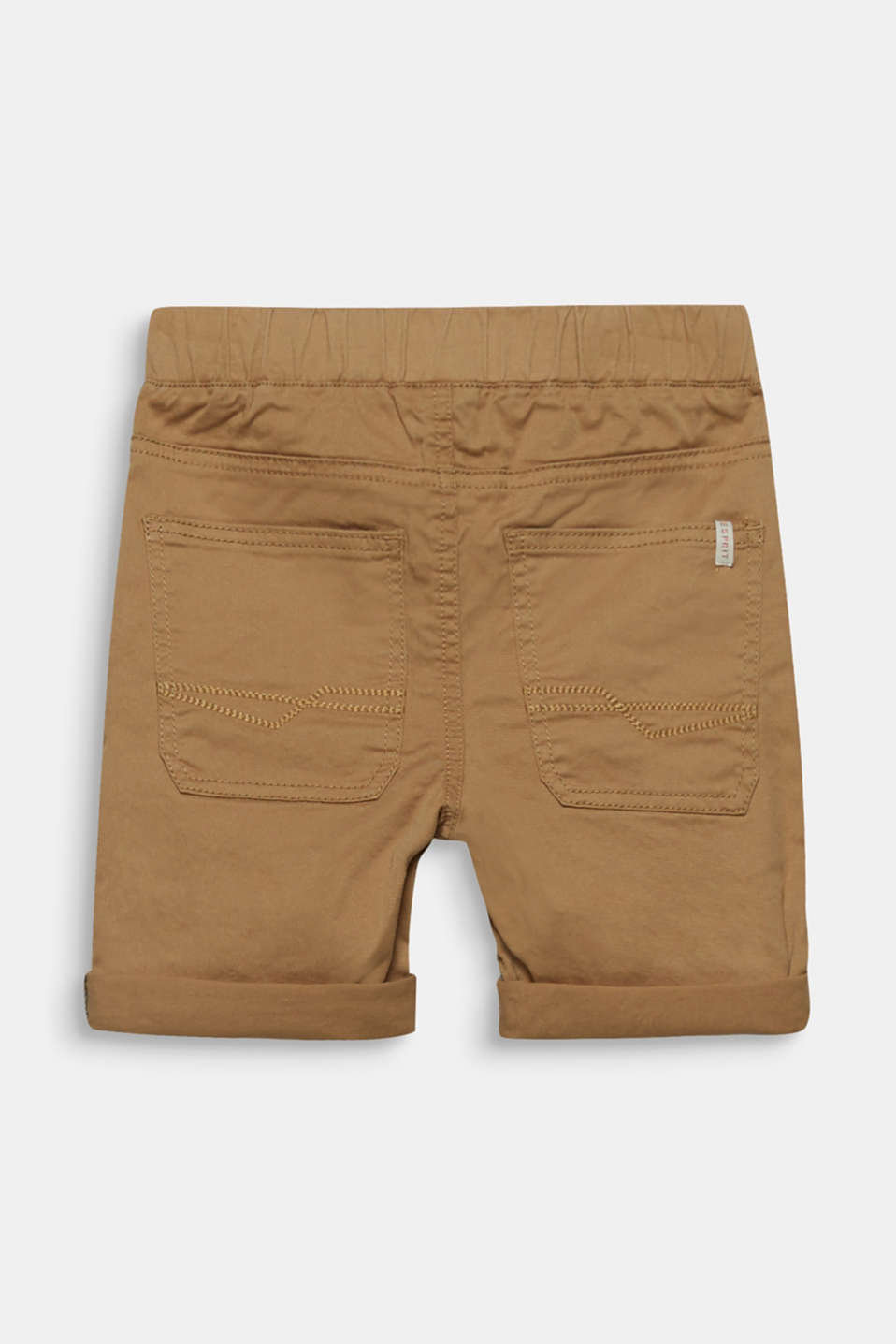 Shorts with elasticated waistband, made of stretch cotton